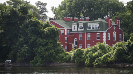 Part of the Russian Federation's riverfront compound is seen from the water on Maryland's Eastern Shore in Centreville, Maryland © Jim Watson