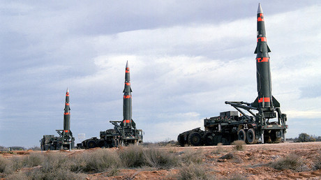 FILE PHOTO: Pershing II missiles © Department of Defense
