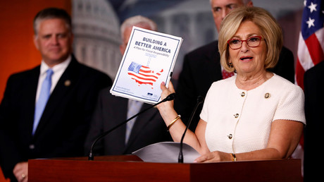 Rep. Diane Black (R-TN) announces the 2018 budget blueprint during a press conference on Capitol Hill in Washington, U.S., July 18, 2017. © Aaron P. Bernstein