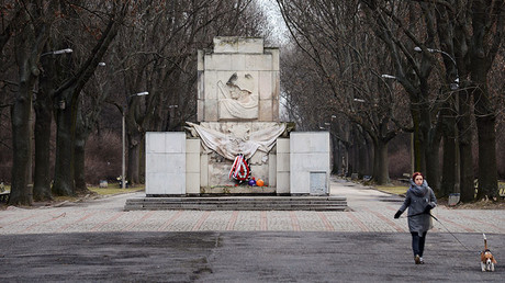 The Monument of the Gratitude for the Soviet Army Soldiers at Skaryszewski Park in Warsaw. © Alexey Vitvitsky