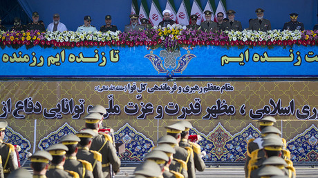FILE PHOTO: Iran's President Hassan Rouhani attends a military parade in Tehran © Morteza Nikoubazl / Global Look Press