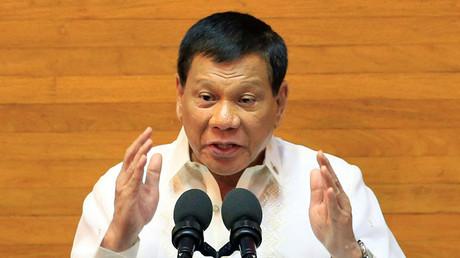 Philippine President Rodrigo Duterte his State of the Nation Address (SONA) in Quezon city, metro Manila, Philippines July 24, 2017. ©Romeo Ranoco