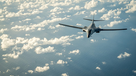 One of two US Air Force B-1B Lancer bombers flies mission over the Korean Peninsula, July 30, 2017 © Staff Sgt. Joshua Smoot