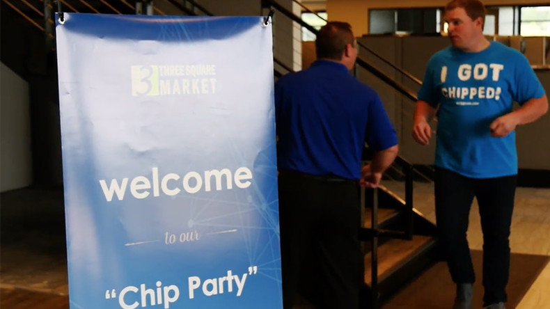 'Chip party': US company celebrates implanting microchips in employees (VIDEO)