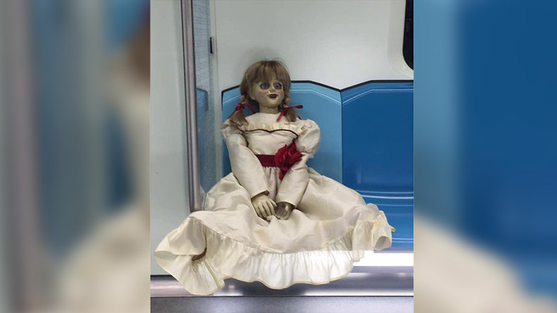 Ghoulish doll deployed in train station to terrify unruly commuters (PHOTOS)