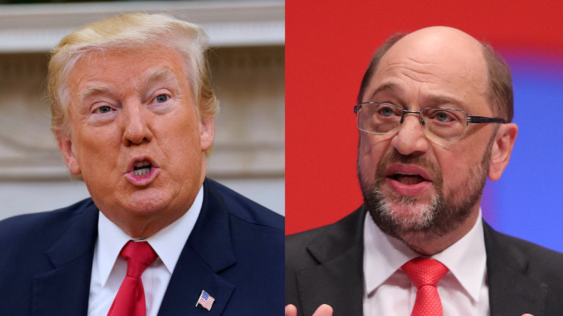 'Trump is danger to US & whole world' – German chancellor hopeful Schulz