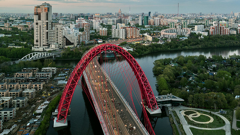 Futuristic Moscow bridge recognized as international masterpiece (PHOTOS)