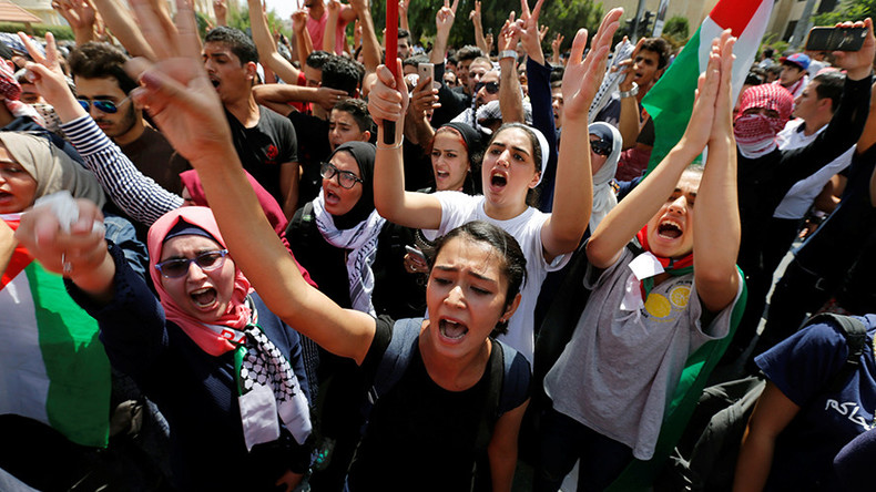 Hundreds demand closure of Israeli embassy in Jordan after shooting of teenager