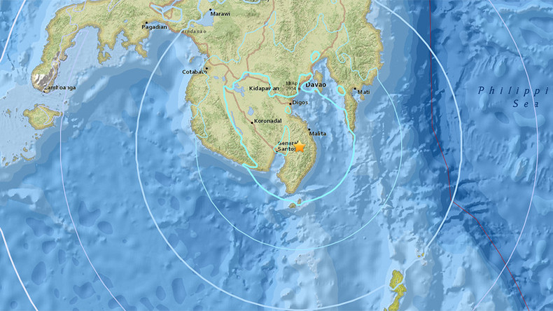 5.8 earthquake strikes Mindanao, Philippines