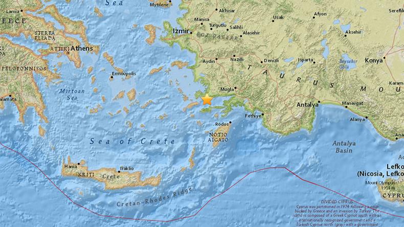 5.3 magnitude earthquake hits near Bodrum, Turkey