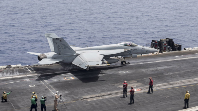 Iranian drone buzzes US Navy jet in Persian Gulf - Pentagon