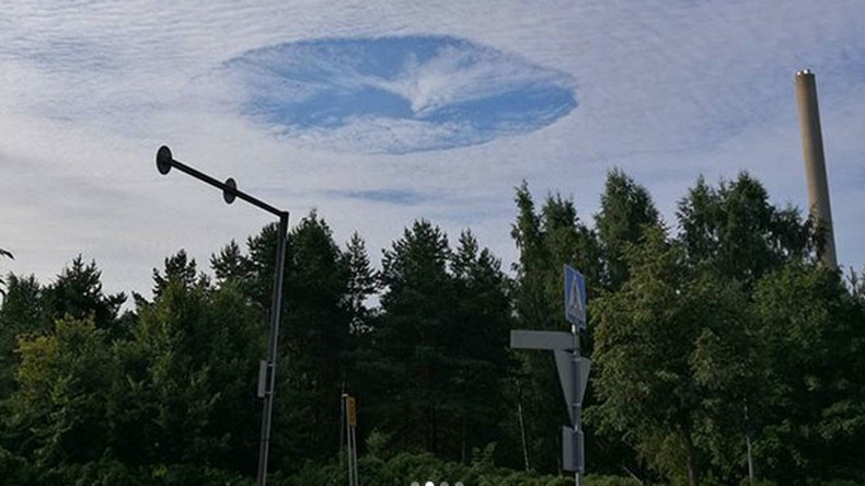 Bizarre clouds form a 'vortex' over Finland (PHOTOS)