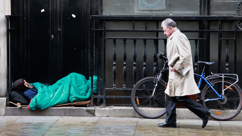 Homelessness in Britain to rise 76% over next decade, charity warns