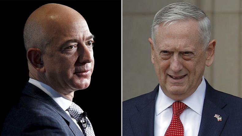 Defense Secretary Mattis meets with Amazon's Bezos, a target of Trump's criticism