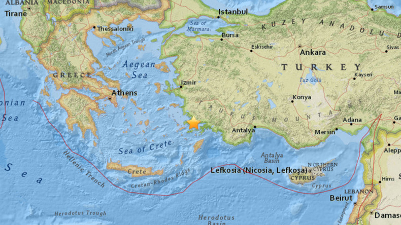 Shallow 4.9 earthquake strikes near Bodrum, western Turkey