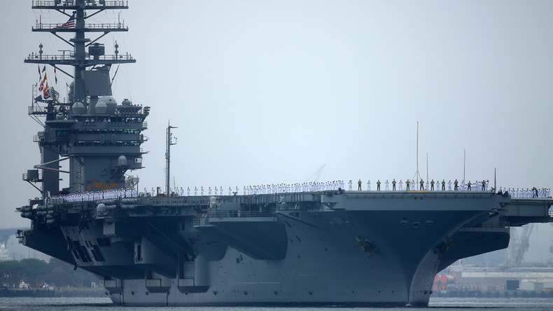 Iran defends drone flights near US vessels after buzzing carrier in Gulf