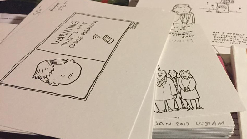 Cartoonist illustrates Trump tweets, book hits Amazon top 10
