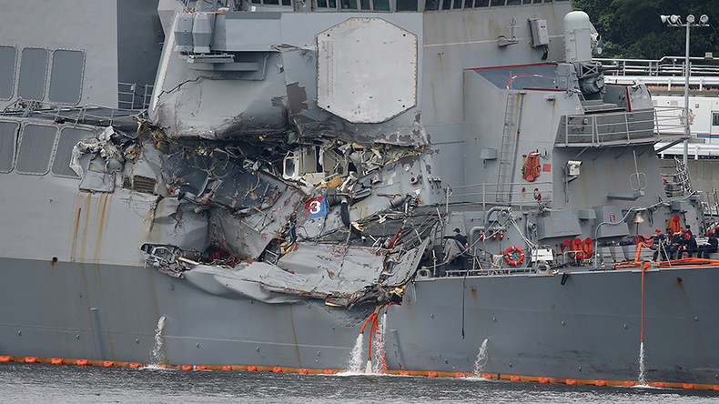 2 senior US Navy officers booted from service over 'USS Fitzgerald' crash near Japan