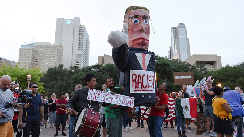 Dallas anti-racism rally marred by scuffles at Pioneer Park