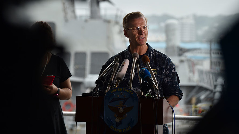Navy removes 7th Fleet commander over 'loss of confidence' after McCain collision