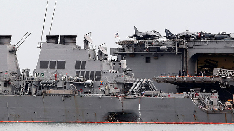 Missing USS McCain sailors identified, US Navy suspends search