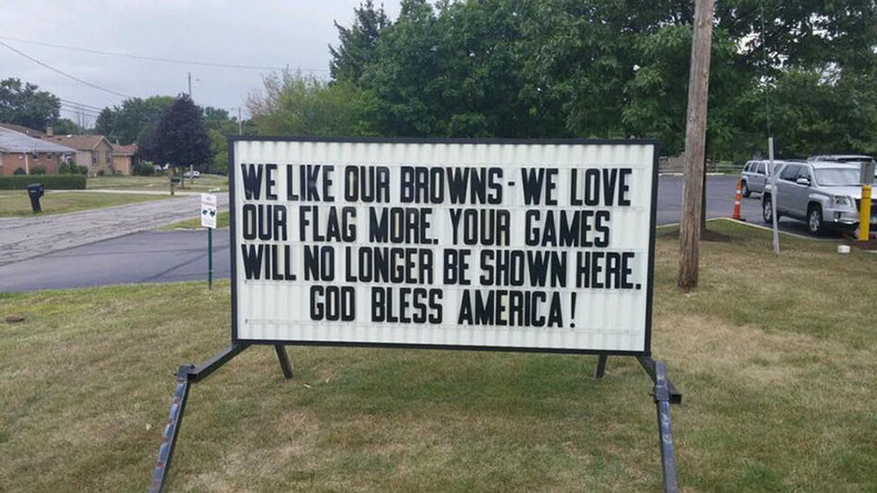 US veterans vow to boycott Cleveland Browns over national anthem protest