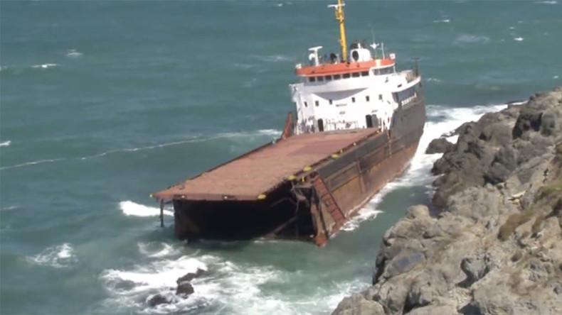 Cargo ship breaks in two & sinks off Turkish coast (VIDEO)