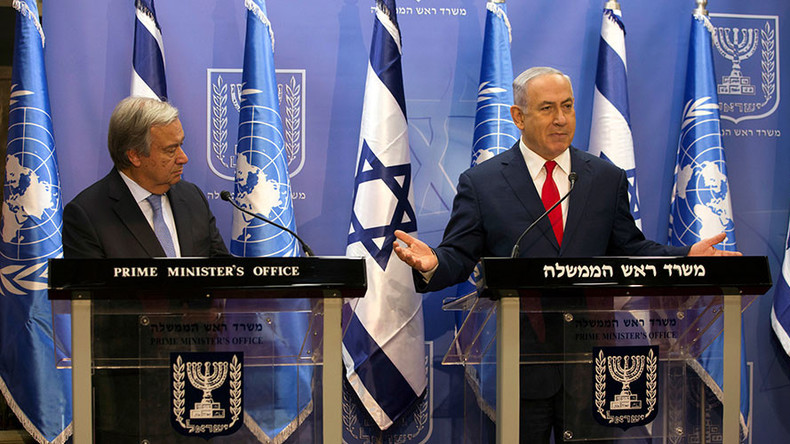 Israel treated unfairly, Netanyahu complains to visiting UN chief