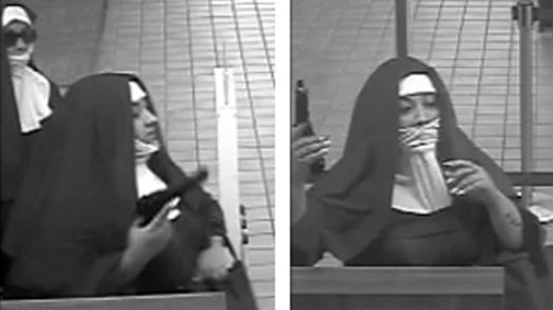 Nuns on the run: 2 raiders in religious garb flee bank after botched robbery
