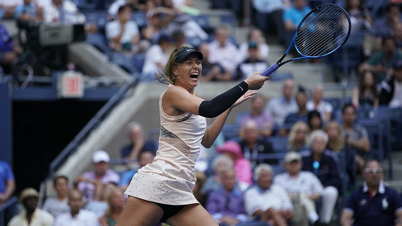 Sharapova marches on at US Open after 2nd round fightback