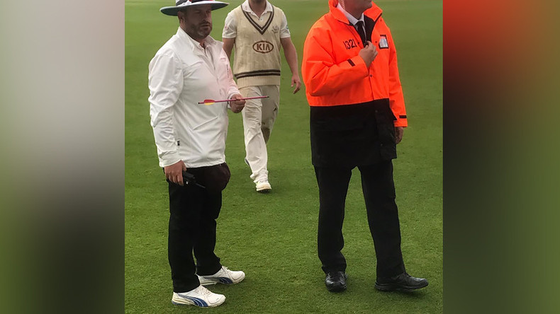 'I don't like cricket': Play halted after metal-tipped arrow fired onto London pitch (PHOTOS)