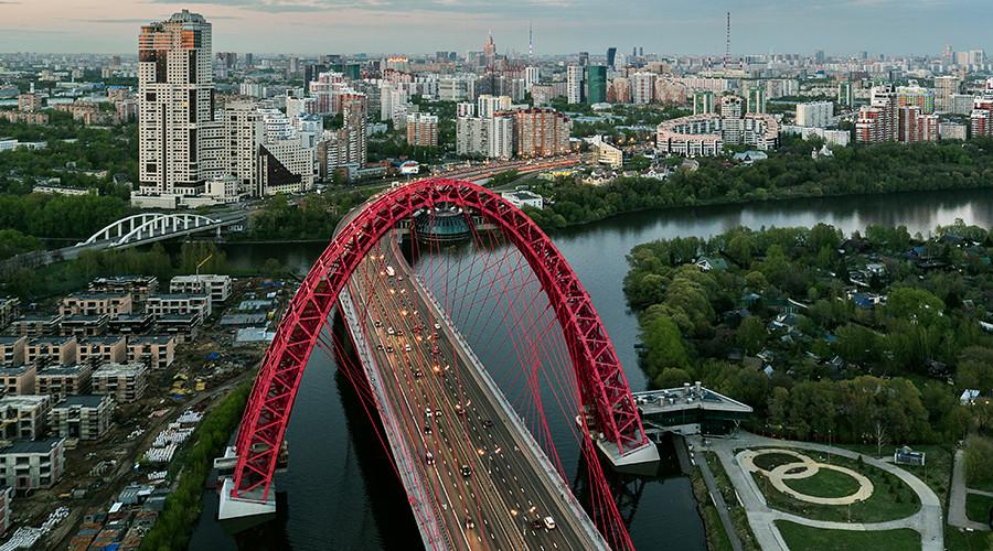 Futuristic Moscow bridge recognized as international masterpiece (PHOTOS)