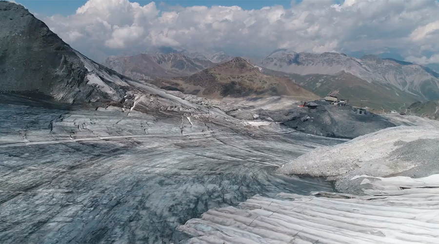 Drone captures Lucifer's dramatic impact on Alps' glacier (VIDEO)