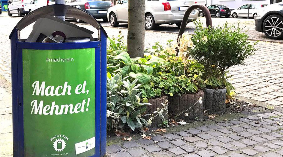 'Do it, Mehmet': German anti-litter campaign under fire for using Turkish names