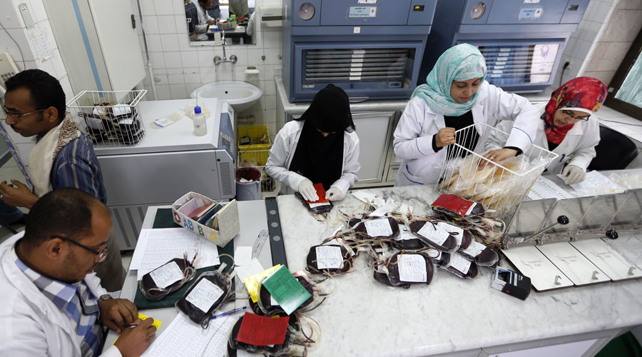 Yemen's national blood bank on verge of closing after losing Western funding