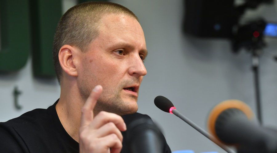 Leftist leader Udaltsov out of custody, urges unity in view of presidential polls