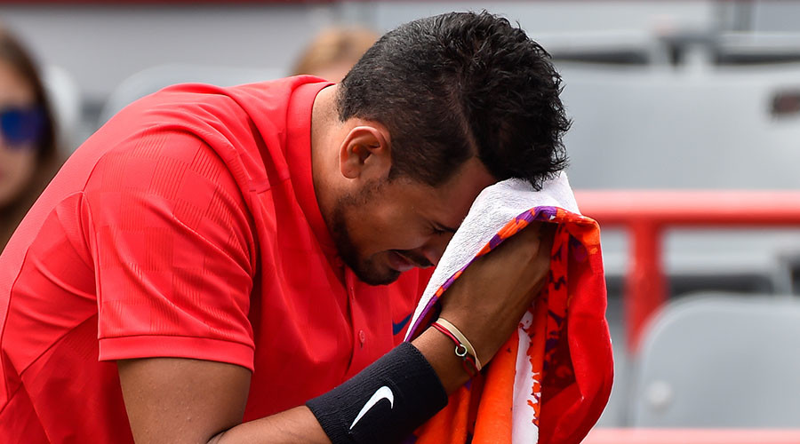 Controversial tennis ace Kyrgios hits line judge with sweaty towel (VIDEO)