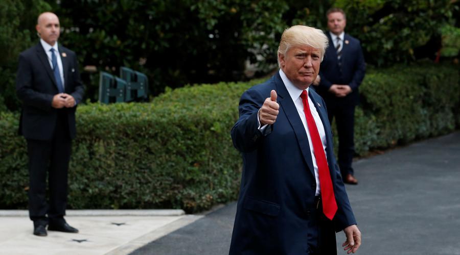 Trump trolls CNN with provocative train smash retweet