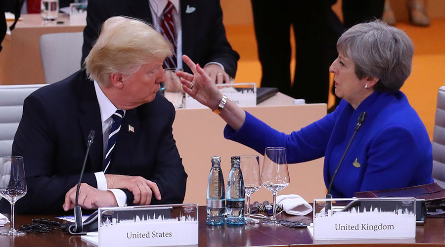 May condemns Trump's response to Charlottesville… ignores calls to cancel his UK state visit