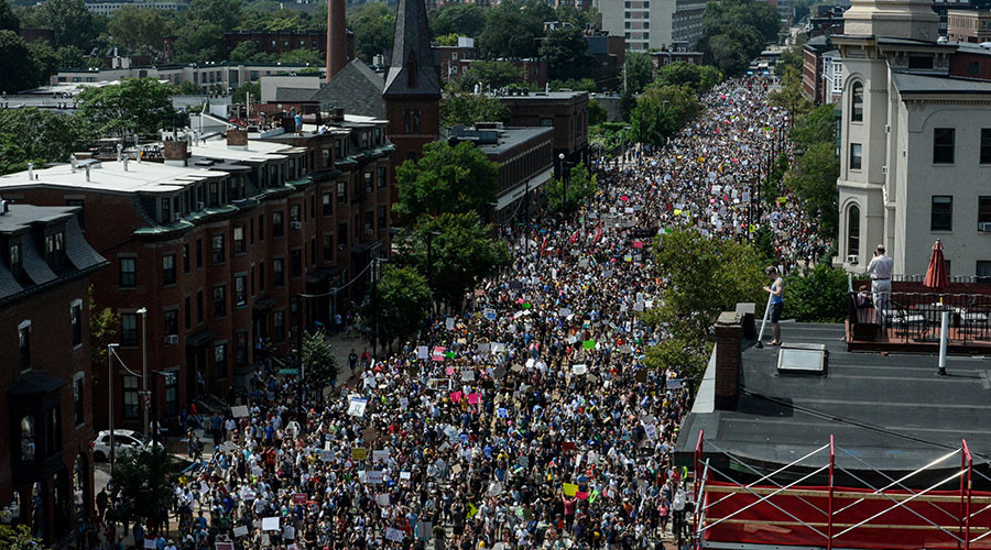 Trump applauds nationwide protests that 'heal, make decades divided US stronger'