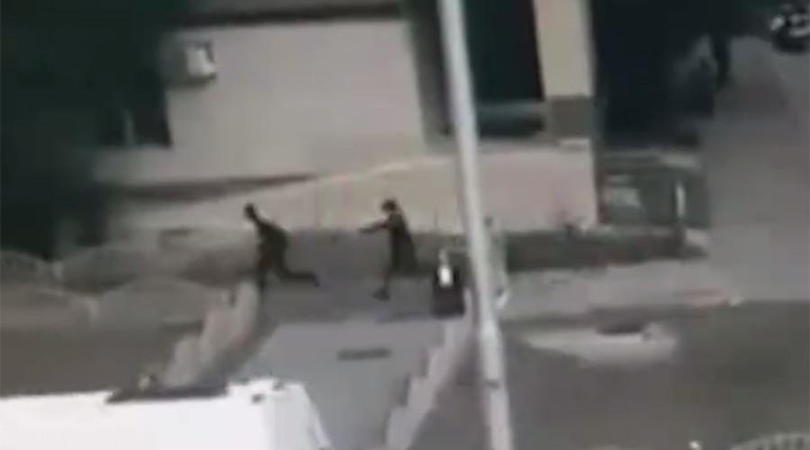 Images of police killing Surgut knife attacker emerge online (VIDEO)