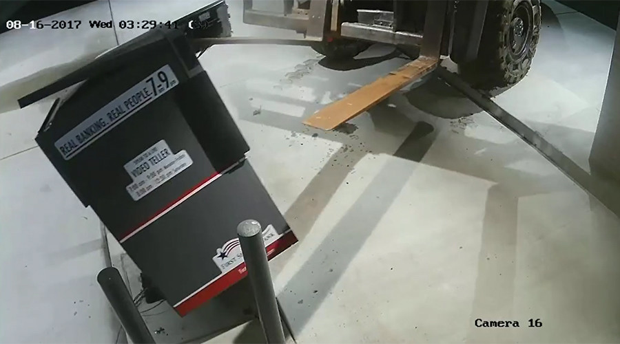 What the fork? ATM stolen with heavy machinery in Arkansas (VIDEO)