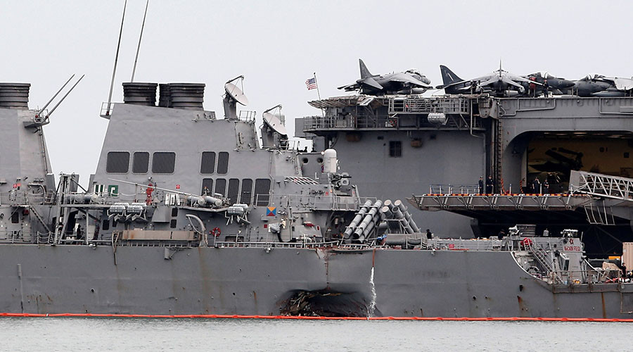 Remains of sailors found in flooded compartment of USS John McCain – US Navy