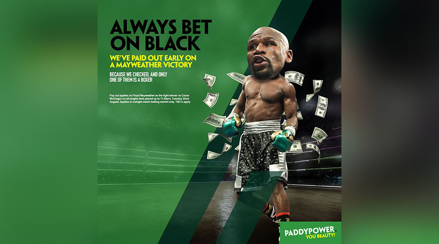 'Always bet on black': Bookmaker's Mayweather v McGregor tweet branded racist