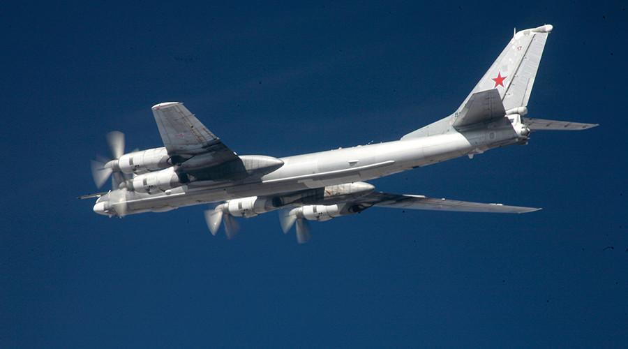 Russian Tu-95 'Bear' strategic bombers perform routine flights around Korean Peninsula