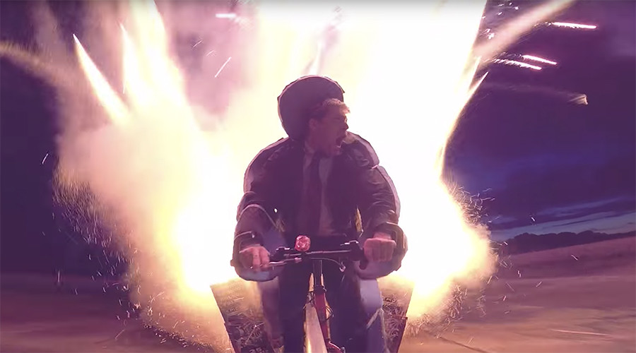 YouTube star returns with explosive 1,000-rocket bike challenge (VIDEO)