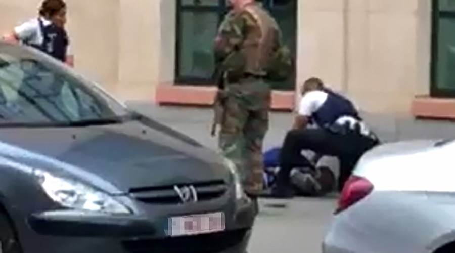 Soldiers attacked by knife-wielding man in Brussels, incident treated as 'terrorist act'