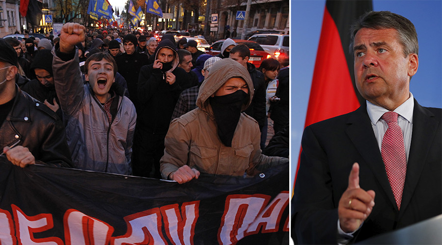 Nazi greeting? German FM slammed online over Ukrainian nationalist slogan