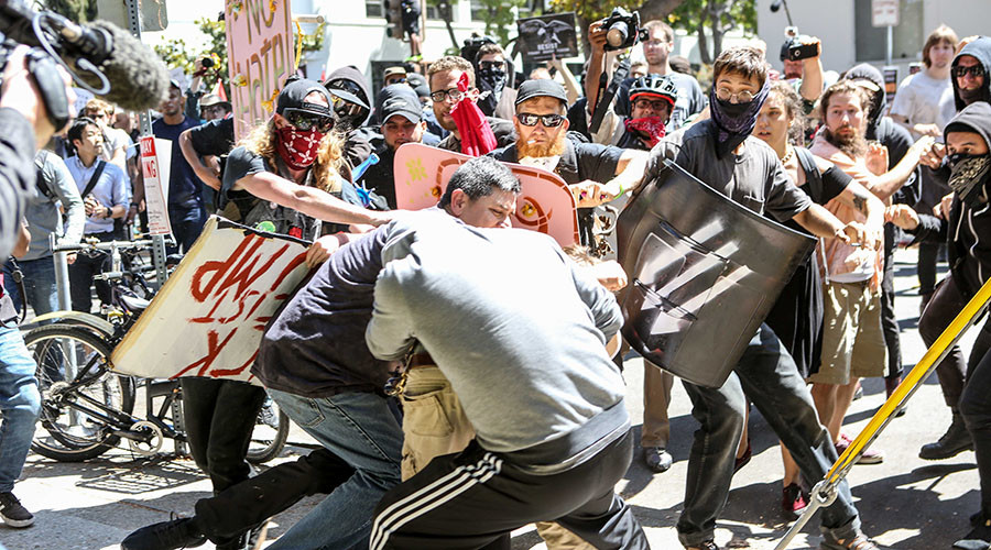 At least 13 arrested as 'antifa' and anarchists shut down Berkeley anti-Marxist rally