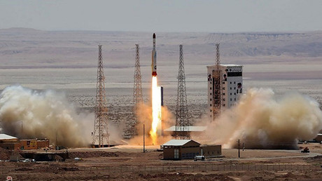 Simorgh rocket is launched and tested at the Imam Khomeini Space Centre, Iran © Reuters